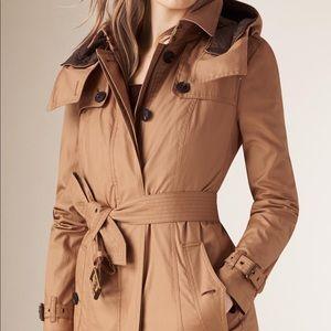 Burberry parka trench coat XS